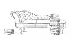 Auf der Couch, Couch und Bücher
